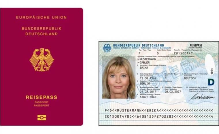 заграничный паспорт германии